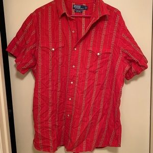 Ralph Lauren Polo Red Vintage Western Shirt